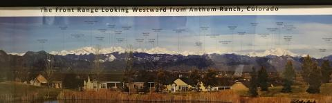 Altitudes of the Colorado front range mountains