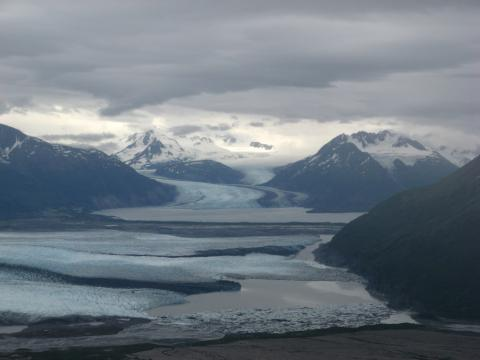 A glacier near Anchorage, Alaska