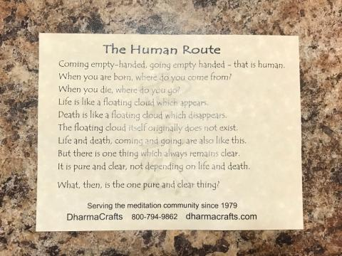 The Human Route