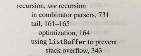 Recursion - see recursion (index entry)