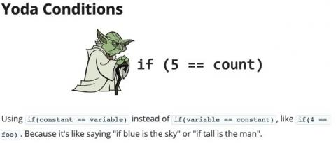 Yoda Conditions in programming