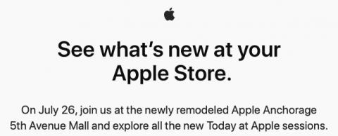 The Apple Store in Anchorage, Alaska has reopened
