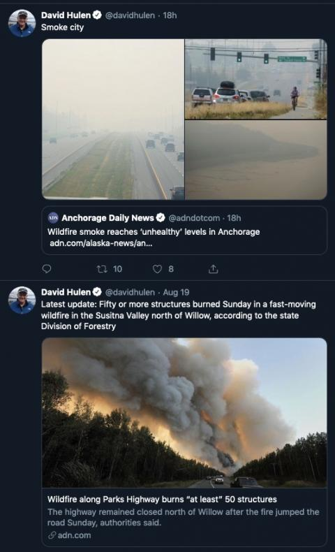 Alaska is burning