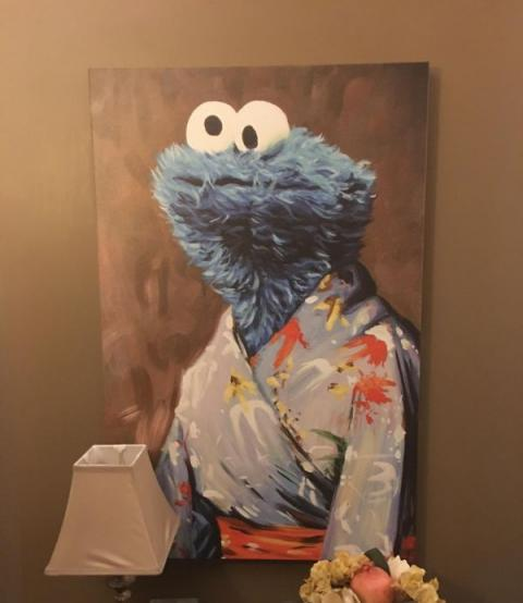 Cookie Monster painting