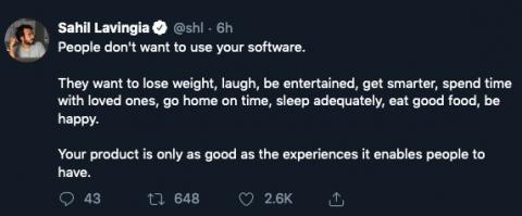 People don't want to use your software