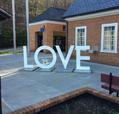 Love (a Virginia rest area sign)