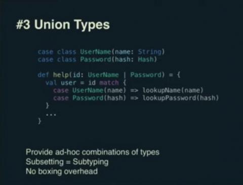An example of Union Types in Scala 3 (Dotty)