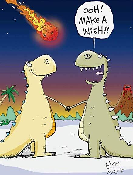 Dinosaur Make A Wish birthday card