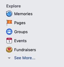 "Facebook deleted the ""Lists"" link"