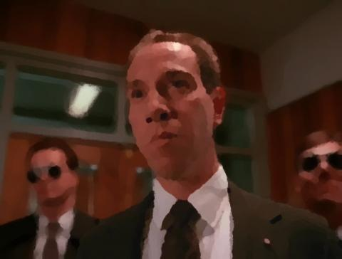 Miguel Ferrer as FBI Agent Albert Rosenfield on Twin Peaks