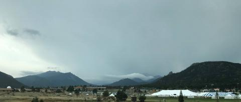 A cloudy day at Estes Park