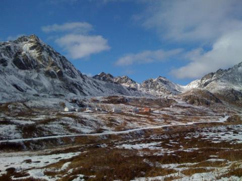View of Independence Mine, Hatcher Pass, Alaska