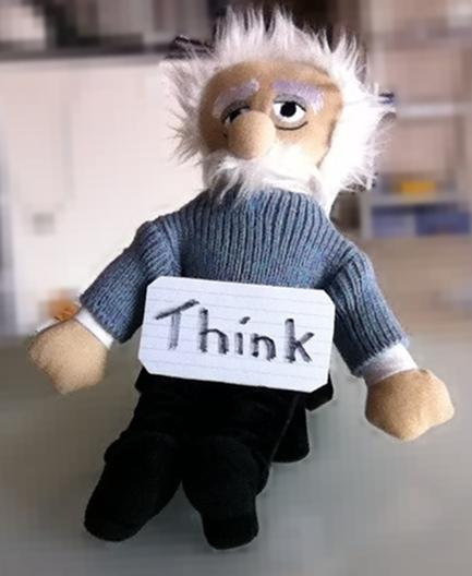 Albert Einstein doll