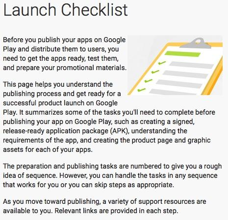 Android: The Google Play Store launch checklist