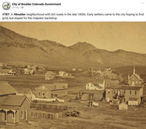 Boulder, Colorado in the 1800s - Very few trees