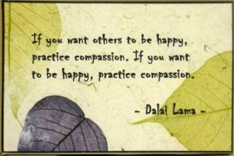 Dalai Lama quote: If you want others to be happy, practice compassion