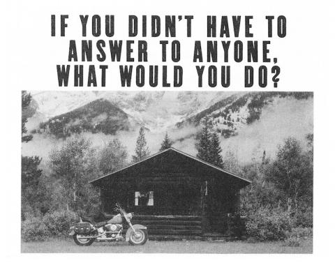 Harley Davidson motorcycle ad: What would you do?