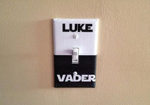 Luke/Vader light switch