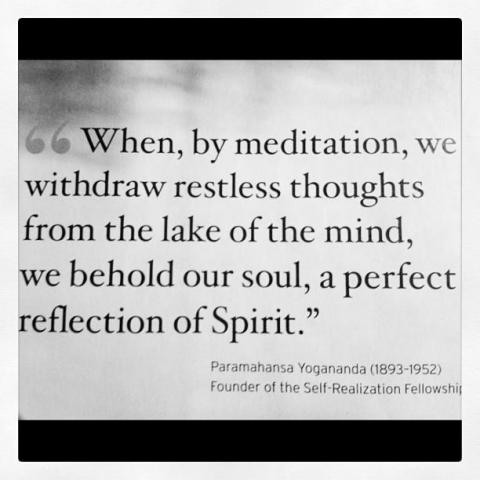 When, by meditation, we withdraw the restless thoughts ...