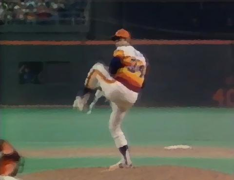 Nolan Ryan's windup, from his fifth no-hitter