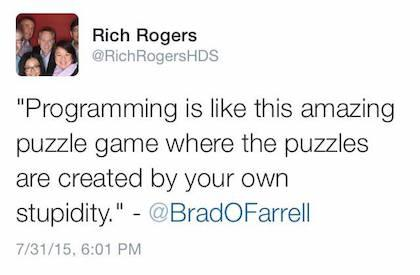 Programming is like this amazing puzzle game