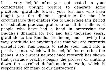 Gratitude helps shut down distractions during meditation