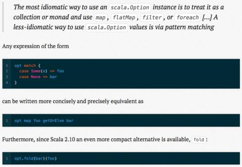 Scala: Idiomatic processing of an Option