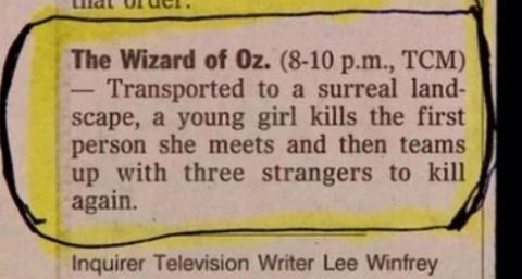 A short review of the Wizard of Oz