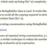 You may not need to use StringBuilder in Java any more