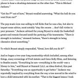 Michael Jackson's advice to Kobe Bryant