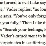 Luke Skywalker's compassion