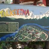 A map of Talkeetna, Alaska