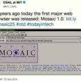 The Mosaic web browser turned 25
