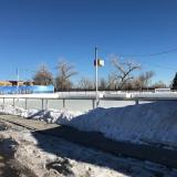 Little ice skating rink in Louisville, Colorado