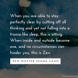 When inside and outside become one — Zen Master Seung Sahn