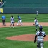 Trevor Bauer throws a baseball at least 340 feet