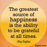 The greatest source of happiness is ...