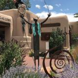 Happy New Year, 2020 (Santa Fe statue)
