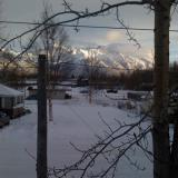 A view of the mountains from my apartment in Palmer, Alaska