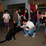 Me and a black dog in Mexico