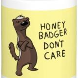 Honey badger don't care coffee mug