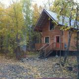 The cabin I lived in, in Talkeetna, Alaska.