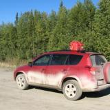 The RAV4 on the Dalton Highway, Alaska (Coldfoot)