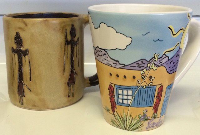 Two new coffee mug designs from Santa Fe, New Mexico