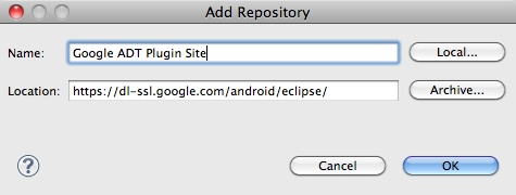 The Android ADT URL for Eclipse plugin