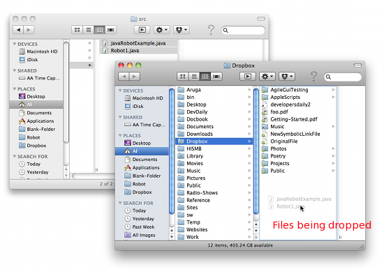 How to copy files on Mac OS X - drag and drop, part 2