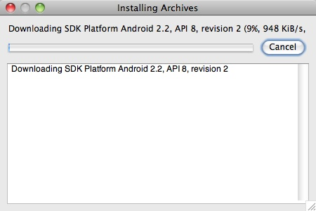 Android SDK update - 1
