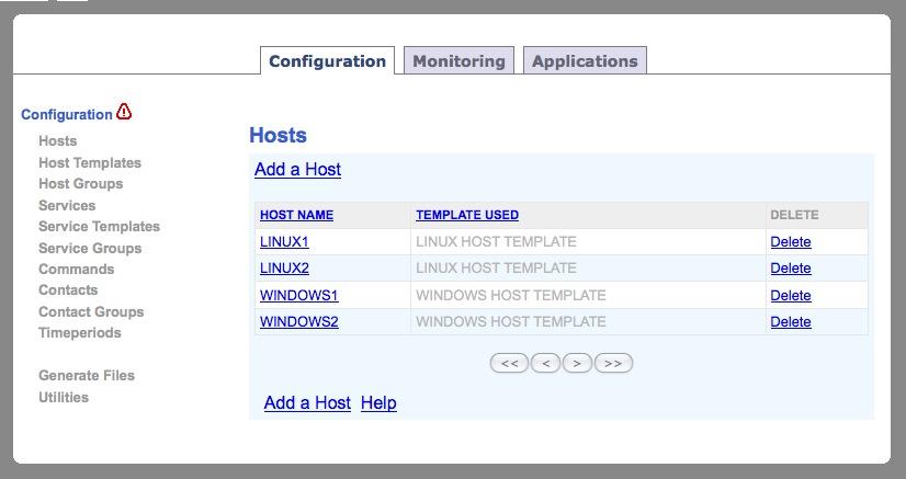 Nagios web application screenshots alvinalexander nagios web interface nagios host inheritance interface maxwellsz