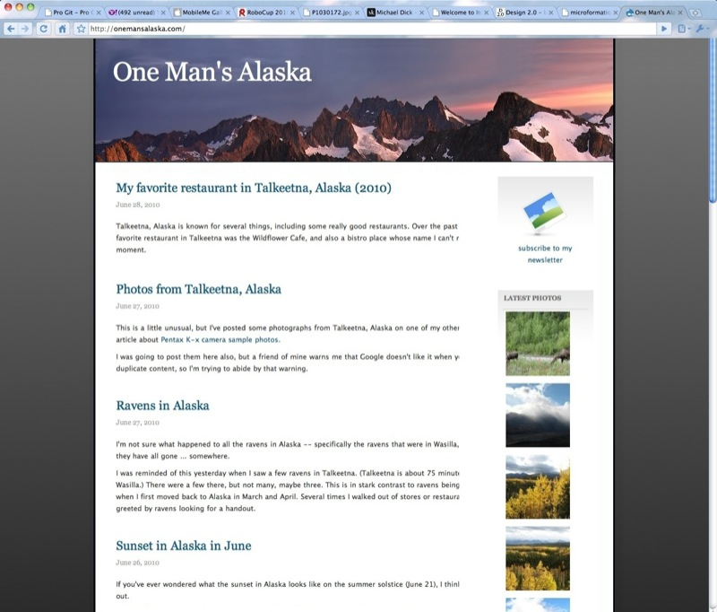 One Man's Alaska website redesign