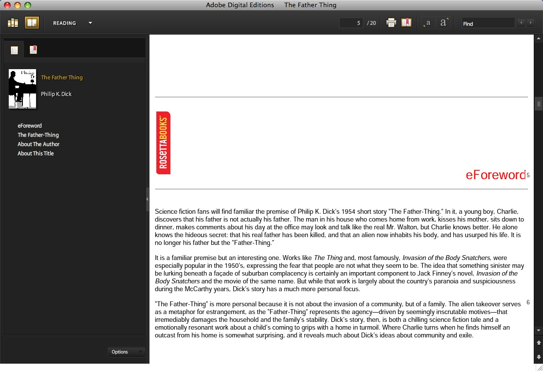 Mac eReader review - Adobe Digital Editions